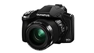 Olympus SP100EE Digital Compact Camera (16MP, 50x Super Wide Zoom, Built-in Dot Sight) 3.0 inch LCD