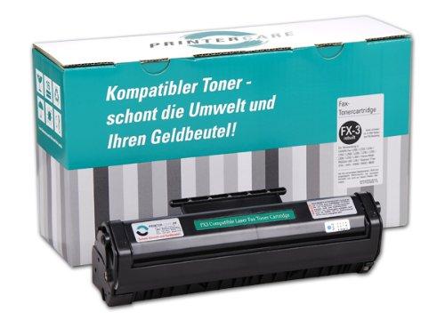 PrinterCare Toner schwarz für Canon FAX L 200, L 220, L 240, L 250, Canon FAX L 260 I, L 280, L 290, L 295, Canon FAX L 300, L 350, L 360, Canon MultiPASStm L 60, L 90, Telekom T-FAX 374 L, 382 L, Telekom T-FAX 8300, 8400, 8600, FX-3 Euro Cartridge (rebuild) - PC-FX-3 - für suche nach Original Canon Toner FX-3 / FX3 / 1557A003