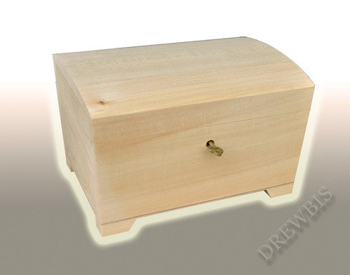 NATURAL PLAIN WOOD / WOODEN BOX HINGED LOCKABLE JEWELLERY PSK20