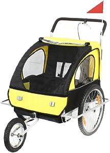 Vivafit / 56640011 Remorque buggy pour vélo/jogging Jaune/noir