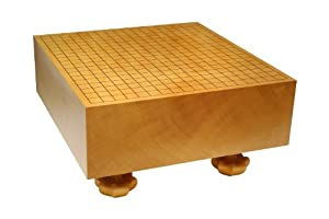 Go Board: Single Piece Kaya Go Board with Hand Carved Legs 5.8''