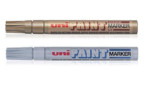 uni-ball-blister-medium-bullet-tip-paint-marker-pen-gold-silver-pack-of-2