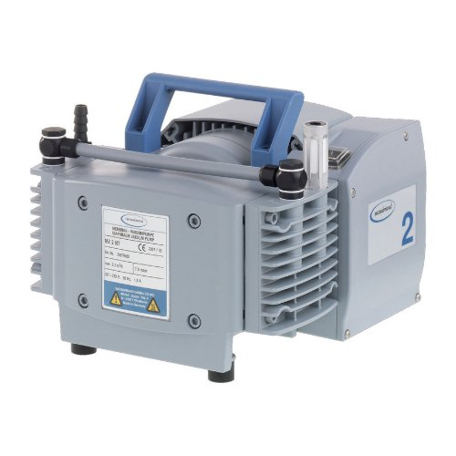 "Brandtech 732000 Ptfe Mz2 Nt Diaphragm Vacuum Pump With Cee Plug, 230V Power Supply, 1.30Cfm Pumping Speed, 9.41"" Width X 7.80"" Height X 9.57"" Depth front-16455"