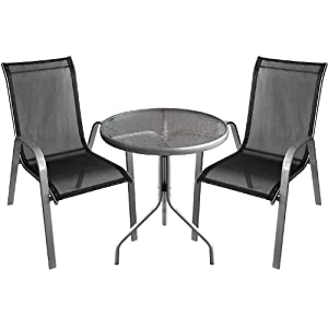 3tlg bistro set sitzgruppe balkonm bel sitzgarnitur. Black Bedroom Furniture Sets. Home Design Ideas
