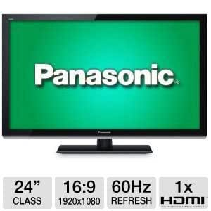 Panasonic VIERA 24-Inch 1080p Full HD LED LCD TV, 24p Playback, Intelligent Scene Controller, AV Surround Sound, USB 2.0, Eco Mode, Game Mode, SD Card Slot, Built-In ATSC/QAM/NTSC Tuners, Black Finish