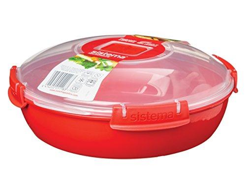 1118 Sistema microonde-piatto rotondo 1,3 L, rosso