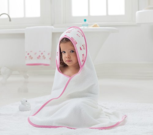 aden + anais Classic Hooded Towel + Washcloth Set, Princess Posie