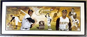 Roberto Clemente photo matted and framed HUGE panoramic (Pittsburgh Pirates Puerto...