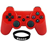 Donop Red Bluetooth Bt Wireless Ps3 Controller,Game Pad Game Gaming Controllers Joystick Joypad Gamepad Consoles...