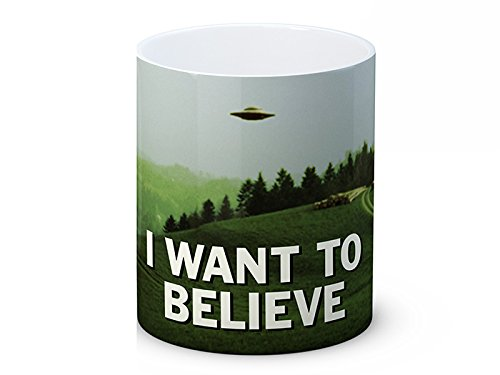 The X Files-I Want to Believe XFILES, alta qualità, Tazza da tè o caffè