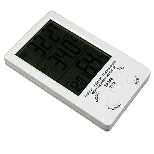 Bluesky Electronic Clock Lcd Digital Hygrometer Thermometer Meter Gauge