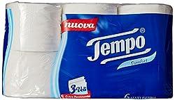 Tempo Toilet Tissue Cotton Touch 3-Ply - 6 Rolls (White)