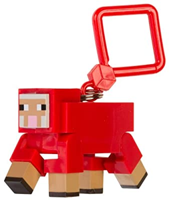 Red Sheep 2 Action Figure Hanger Official Minecraft Action Figure Hanger Series Rare by Jinx