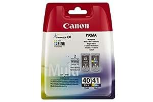Canon PG-40 & CL-41 Cartouche d'encre d'origine Pack de 2 Noir, Tricolore