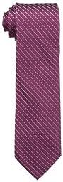 Calvin Klein Men\'s Etched Windowpane A Tie, Burgundy, Regular