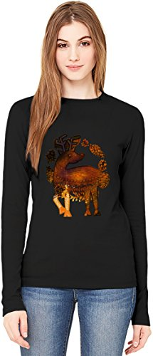 Forest Bambi T-Shirt da Donna a Maniche Lunghe Long-Sleeve T-shirt For Women| 100% Premium Cotton| DTG Printing| XX-Large