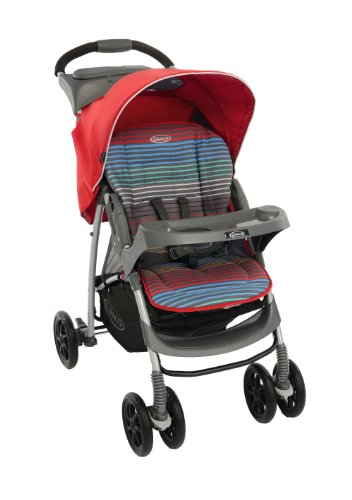 Graco Mirage Plus Stroller, Pepper Stripe