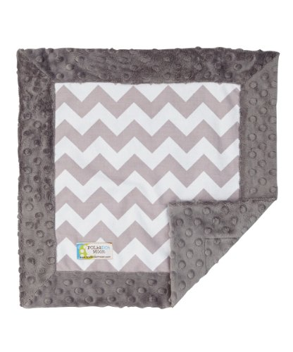 Baby LUXE Lovey/Security Blanket - Gray & White Chevron on Gray Minky