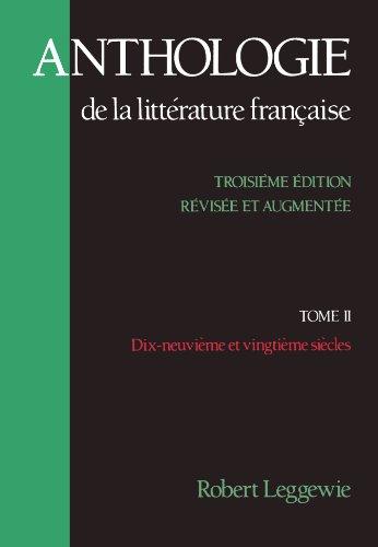 Anthologie-de-la-Litterature-Franaise-Tome-II-Dix-neuvime-et-vingtime-sicles