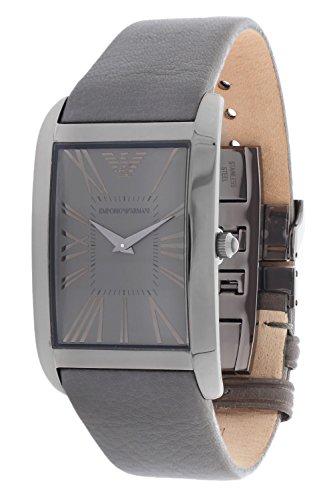 Emporio Armani AR2058 - Reloj unisex, correa de cuero color gris