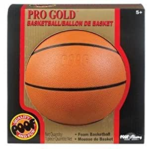 POOF-Slinky 452BL POOF Pro Gold 7-Inch Foam Basketball with Box, Brown by Poof TOY (English Manual)