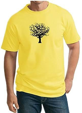 Buy cool shirts mens yoga black tree of life for Big and tall cool shirts