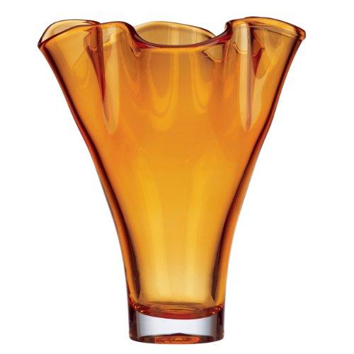 Lenox Organics Ruffle Crystal Vase, Amber (Lenox Organics Crystal Bowl compare prices)