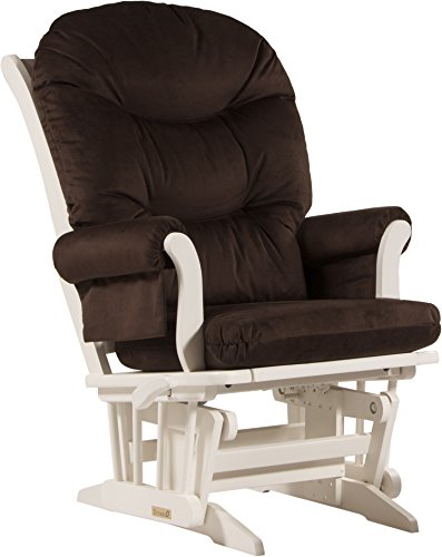 Dutailier Sleigh Glider-Multiposition and Recline, Chocolate