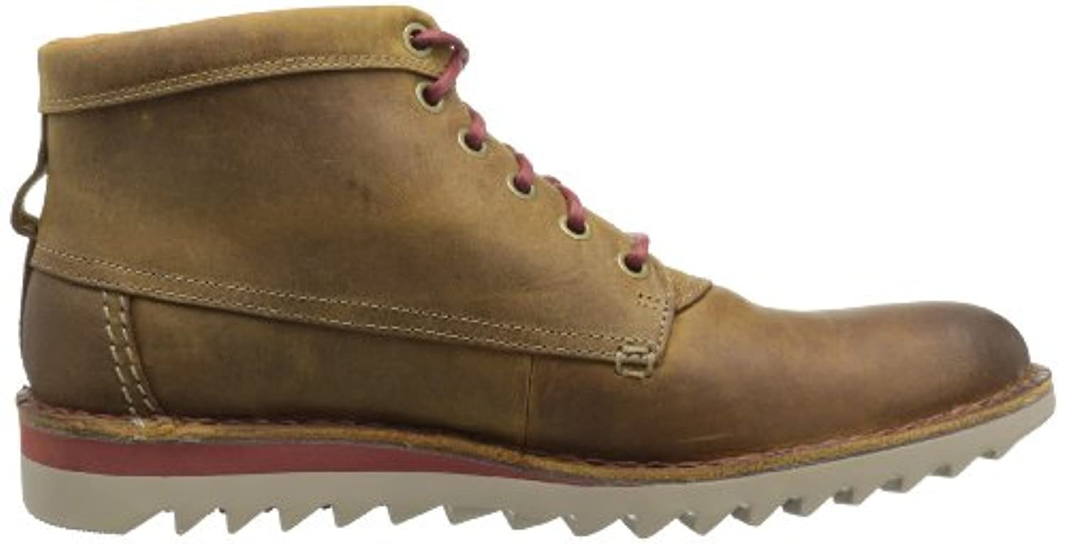 Clarks Men's Newby Jump Boot,Cognac Leather,11.5 M US