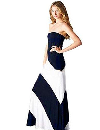 Anca Demi Extra Plus Size Double Layer Boobtube Strapless Maxi Dress Black XL