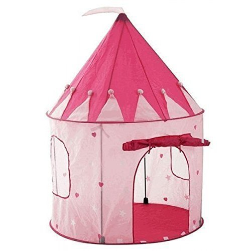 Kids Tent by StepSafe® Girls Pink Princess Castle w Storage Case High Quality Play Tent for Toddlers and Kids • Strong and Durable • Lightweight and Portable • 100% Safe Playhouse for Children (Blow Up Play House compare prices)
