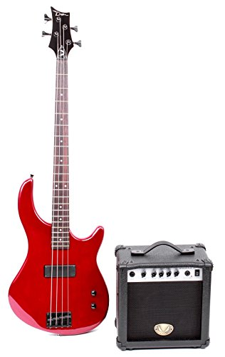 Dean Starter Bass Pack with Edge 09 Bass, Metallic Red