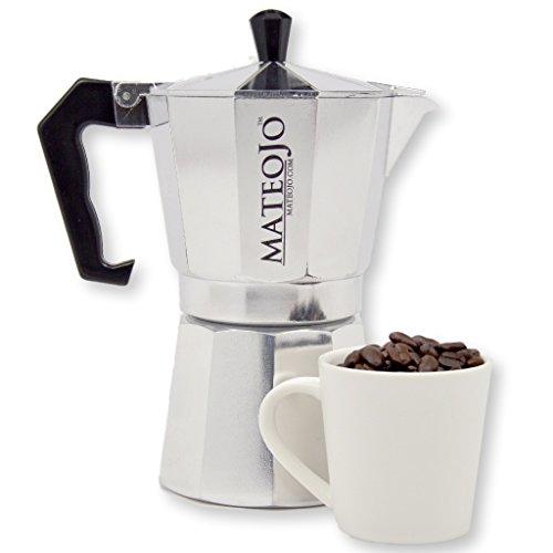 Stovetop Espresso Maker - Italian Moka Pot - Cafetera - Cuban Coffee Machine - Medium by MateoJo ...