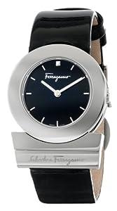 Salvatore Ferragamo Women's F56SBQ9909J S009 Gancino Black Patent Band Logo Watch by Salvatore Ferragamo