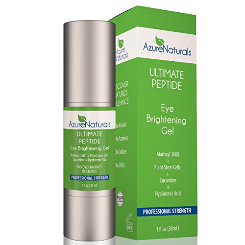 Azure Naturals - Matrixyl 3000 CUCUMBER PEPTIDE Eye Gel - Eye Cream with Plant Stem Cells & Advanced Anti Aging Anti Wrinkle Properties to Address Dark Circles, Puffiness and Wrinkles! 100% Natural! (Azure Naturals compare prices)