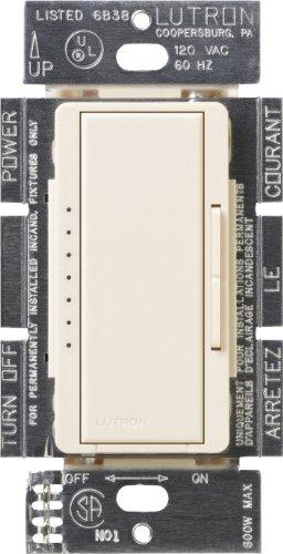 Lutron MSC-1000M-ES  Maestro 1000-watt Multi-Location Digital Dimmer, Eggshell