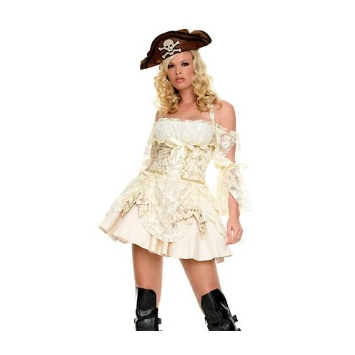 Adult Halloween Costumes: Hot Girls in Captains Mistress - Sexy Adult Pirate Costume Lingerie Outfit