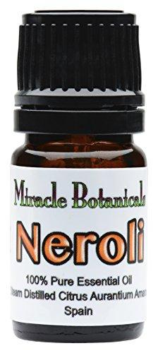 Miracle Botanicals Neroli Essential Oil - 100% Pure Citrus Aurantium Amara - Therapeutic Grade 5ml
