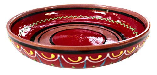 Terracotta Red, Serving Dish - Hand Painted From Spain (Hand Painted Dishes compare prices)
