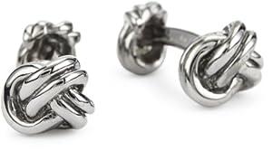 "ROTENIER ""Novelty"" Sterling Silver Black Three Knot Cufflinks"