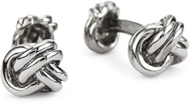 "ROTENIER ""Novelty"" Sterling Silver Black Three Knot Cufflinks"