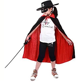 CHN'S Unisex Kids Halloween Cloak Stand Collar Full Length Cape Costumes Fancy Dress