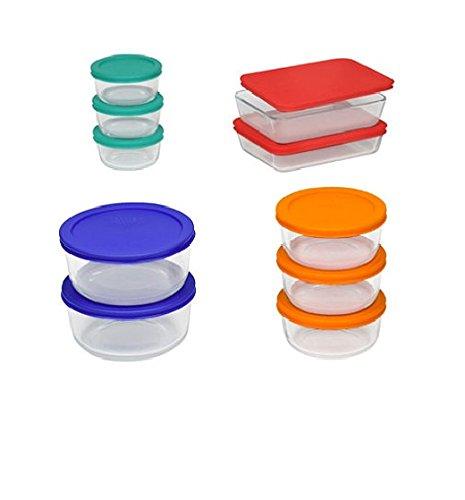 pyrex-storage-set-clear-red-orange-blue-green20-pieces