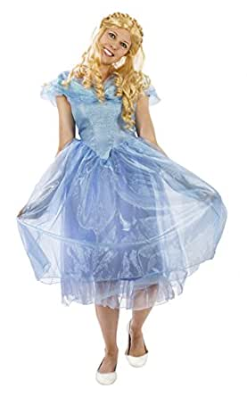 Maven Gifts Disguise Cinderella Movie Deluxe Costume with Wig