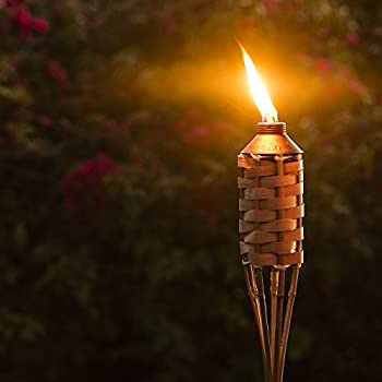 TIKI Brand 57-Inch Luau Bamboo Torches - 12 pack