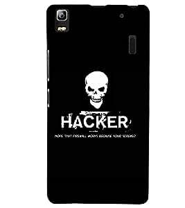 printtech Hacker Back Case Cover for Lenovo K3 Note