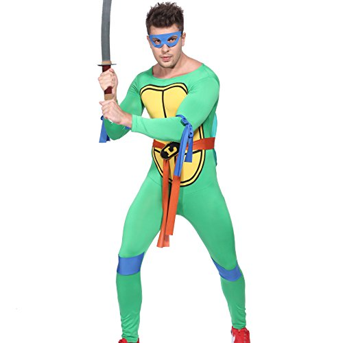 80s TV Show Teenage Mutant Ninja Turtles Costume TMNT Fancy Dress w/ Mask