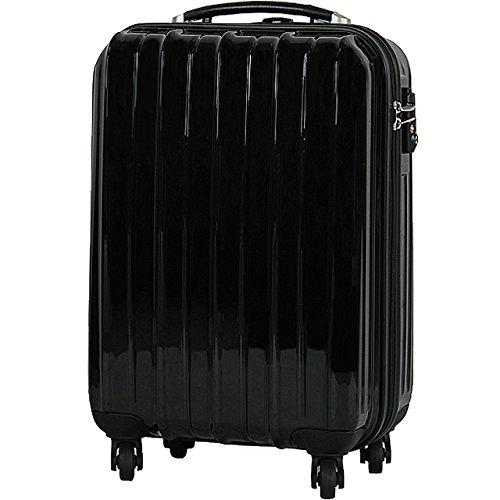 (PORTA)6255-SS ジップスーツケース SSサイズ 小型 1~2泊 TSAロック(BLACK)