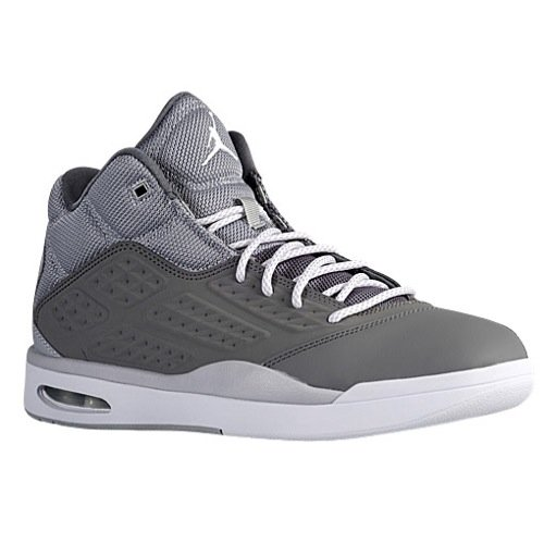 Men's Air Jordan New School Basketball Shoes (11.5, Grey/White) (Jordan New Shoes compare prices)