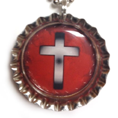 Red Cross - Christian Bottlecap Necklaces